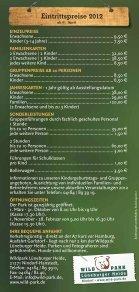 Eintritspreise als Flyer zum Download - Wildpark - Lüneburger Heide - Seite 2