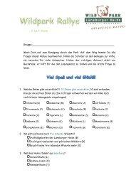 Für Schüler der 5. - 7. Klasse - Wildpark - Lüneburger Heide