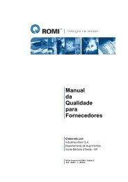 Manual da Qualidade para Fornecedores - Edição C - Romi
