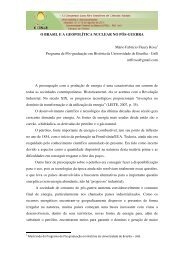 O BRASIL E A GEOPOLÍTICA NUCLEAR NO PÓS-GUERRA Mário ...