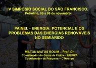 Palestra no IV Simpósio Social do São Francisco - Araripe solar ...