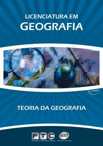 capas teoria da geografia - ftc ead