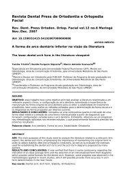 Revista Dental Press de Ortodontia e Ortopedia Facial