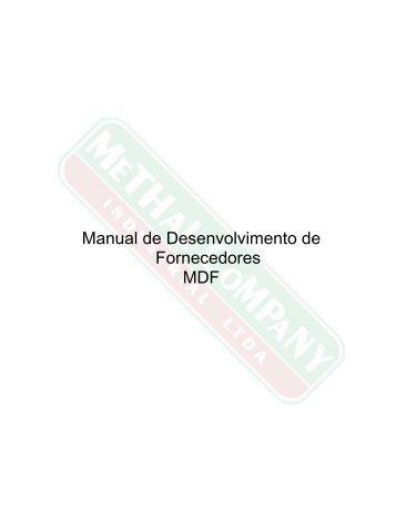Manual de Desenvolvimento de Fornecedores MDF - Methal ...