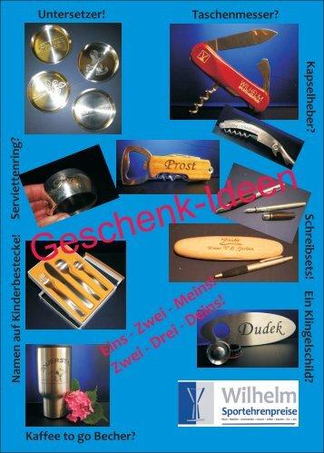 Angebote & Geschenktipps - Pokal-Gravuren