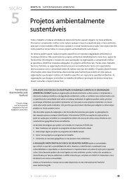 SEÇÃO 5 - Projetos ambientalmente sustentáveis