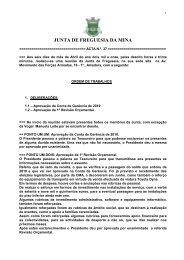 Acta N.º 37 - Junta de Freguesia da Mina