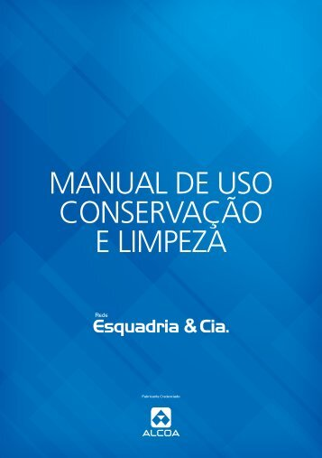 Download Manual de Uso Conservação E Limpeza - Lac
