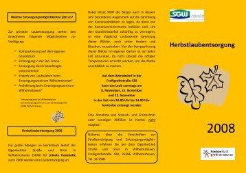 Herbstlaubentsorgung - Stadt Wilhelmshaven