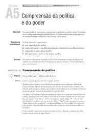 Seção A5 - Compreensão da política e do poder