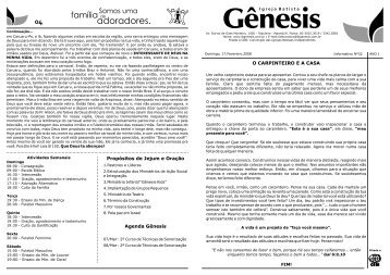INFORMATIVO 32 - Igreja Batista Gênesis