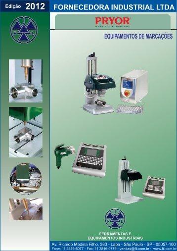 Obtenha o manual do produto aqui. - Fornecedora Industrial Ltda
