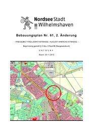 Bebauungsplan Nr. 61, 2. Änderung - Stadt Wilhelmshaven