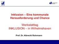 Werkstatttag INKLUSION –  in Wilhelmshaven