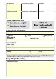 Antrag auf Bauvorbescheid (§ 73 NBauO) - Anlage 6