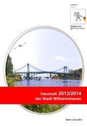 Haushaltsplan 2013 / 2014 - Stadt Wilhelmshaven