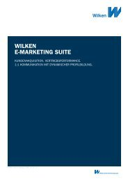 WILKEN E-MARKETING SUITE - Wilken GmbH