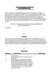 Gebührensatzung des Stadtarchivs - Stadt Wilhelmshaven
