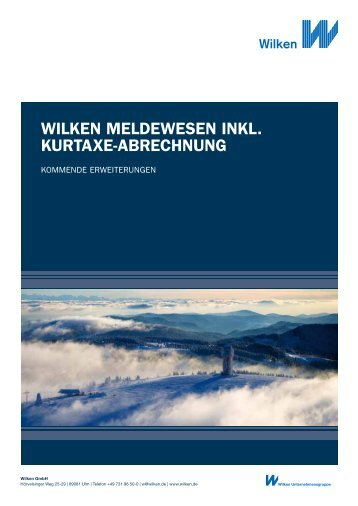 wilken meldewesen inkl. kurtaxe-abrechnung - Wilken GmbH