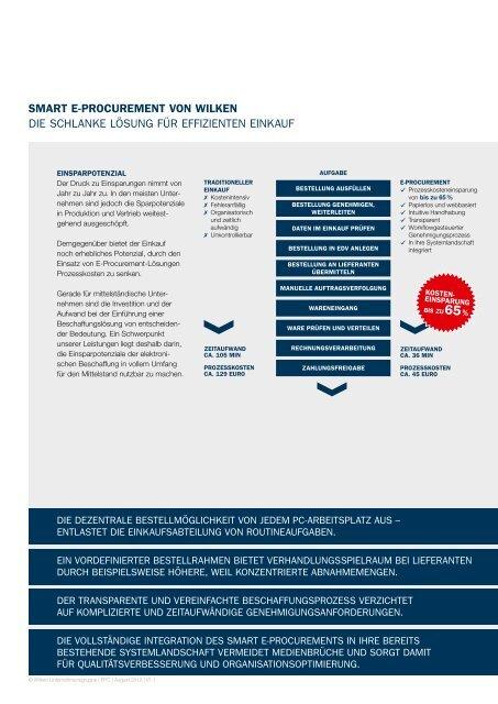 Wilken SMART e-PROCUReMenT - Wilken GmbH