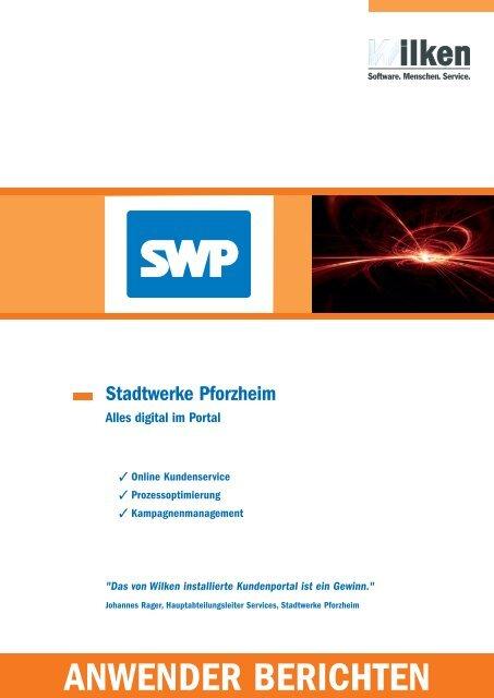 Anwenderbericht Stadtwerke Pforzheim - Wilken GmbH