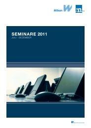 SEMINARE 2011 - Wilken GmbH