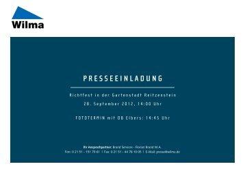 PRESSEEINLADUNG - Wilma wohnen Rheinland