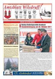 Amtsblatt Dezember 2011, Erscheinungstag - Stadt Wilsdruff
