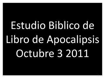 Apocalipsis Cap. 2:18-29 Carta A La