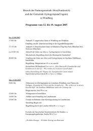 Besuch der Partnergemeinde Abos(Frankreich) und der ... - Windberg