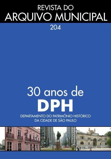 Revista do Arquivo Municipal - Prefeitura de São Paulo - Governo ...