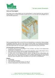 Holz und Feuchtigkeit - Waser Holzbau AG