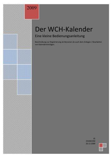 Der WCH-Kalender - Windsurfing-Club Hessenaue