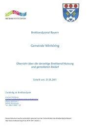 Breitbandexpose Gemeinde Winhöring