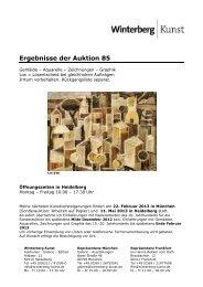 Ergebnisse der Auktion 85 - Winterberg - Auktionen