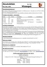 Gemeindeblatt November / Dezember 2010 - Gemeinde Winterspelt