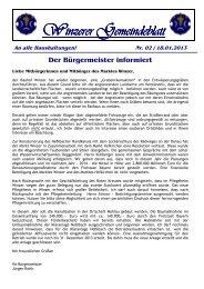 Winzerer Gemeindeblatt - Markt Winzer