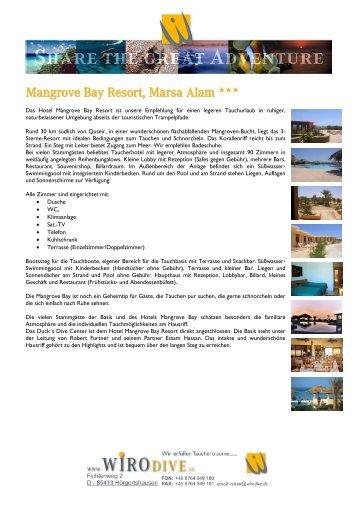 Mangrove Bay Resort, Marsa Alam *** - WiroDive