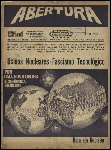 Usinas Nucleares - Fascismo Tecnológico
