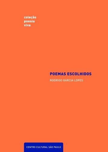 POEMAS ESCOLHIDOS - Centro Cultural São Paulo