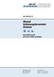 Manual Schienengüterverkehr Schweiz - Verband öffentlicher Verkehr