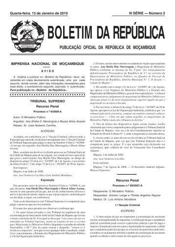 III Série 2010.pdf - Portal do Governo de Moçambique