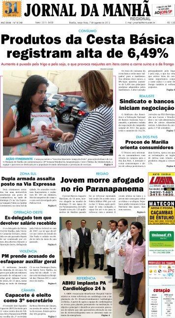 Produtos da Cesta Básica registram alta de 6,49% - Jornal da Manhã