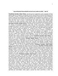 Dia 24/10/2007 - Câmara Municipal de Vereadores de Carazinho