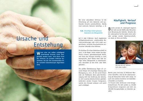 MODERNE ARTHROSETHERAPIE - Wissen-gesundheit.de
