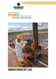 Umweltbericht 2006 (als *.pdf; 6,9 MB) - Wismut GmbH