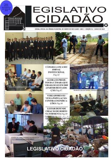Edição 01 - Jornal Legislativo Cidadão - Câmara de Vereadores de ...