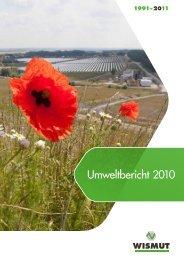 Umweltbericht 2010 (als *.pdf; 14,3  MB) - Wismut GmbH