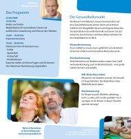 Das Programm Der Gesundheitsmarkt - Wissen-gesundheit.de