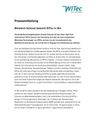 Pressemitteilung - WITec